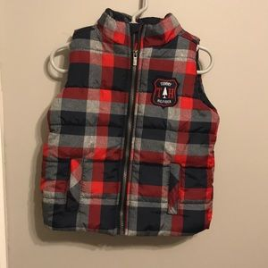 Other - Red plaid winter vest